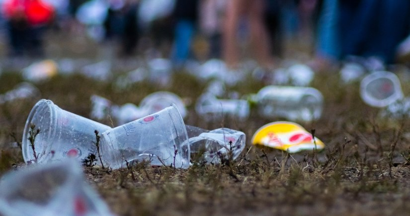 Residus plàstics en un esdeveniment local